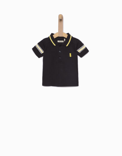 Baby boys' blue polo - IKKS Junior