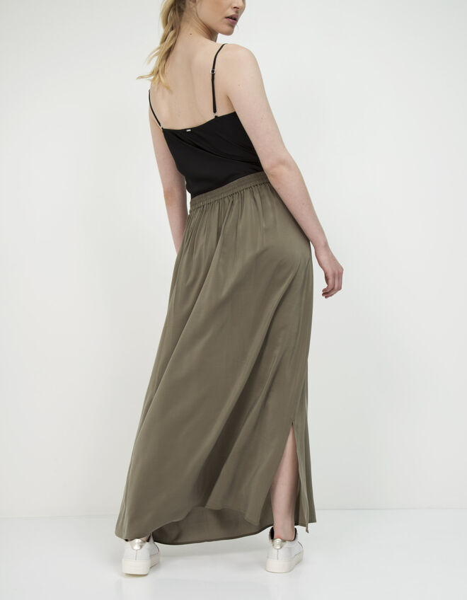 Women's long silk skirt