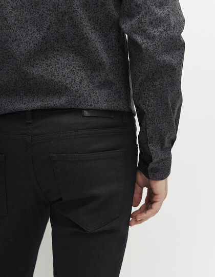 Men's slim black jeans - IKKS Men