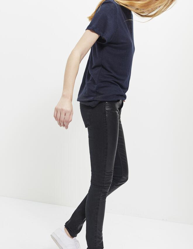 jean skinny noir femme ikks mode archive h16 automne hiver. Black Bedroom Furniture Sets. Home Design Ideas