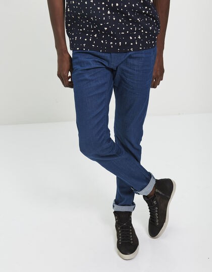 Men's tapered blue trousers - IKKS Men