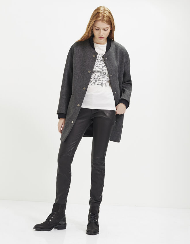 Women's mid-length coat