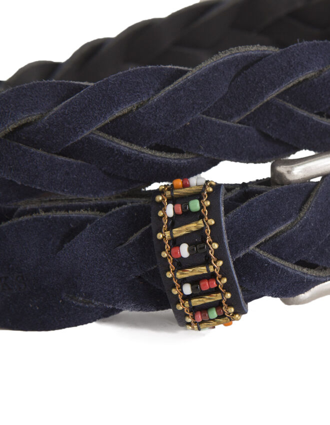 Women's navy blue belt