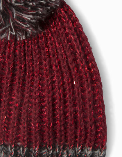 Girls' knitted beanie hat - IKKS Junior