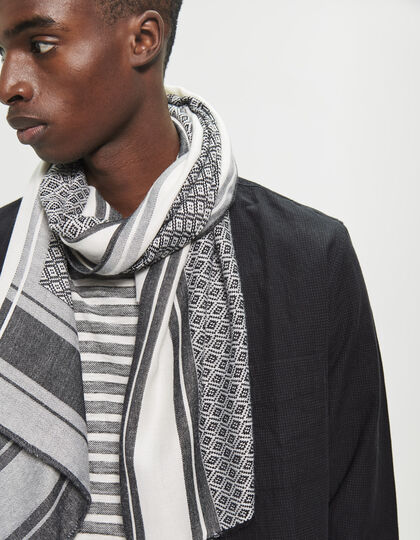 Men's jacquard scarf - IKKS Men