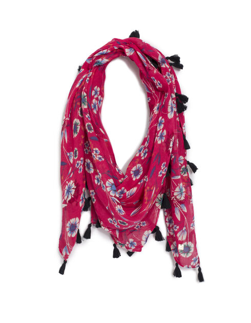 Women's pink scarf