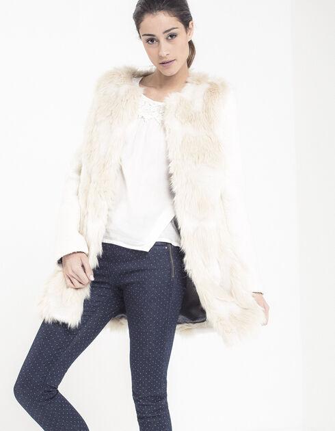 manteau blanc cass femme ikks mode i code automne hiver. Black Bedroom Furniture Sets. Home Design Ideas