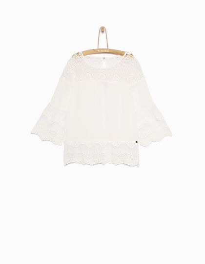 Blouse blanche fille - IKKS Junior