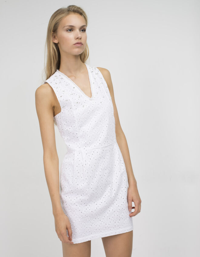 Eyelet embroidered dress