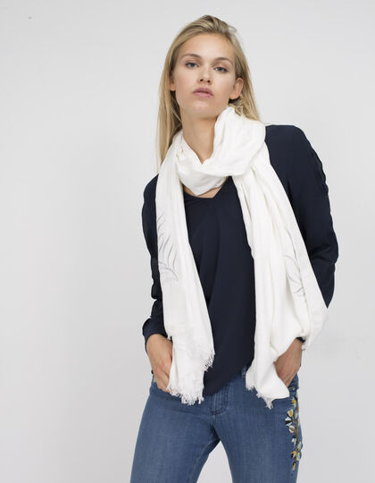 Women's white stole - IKKS Women