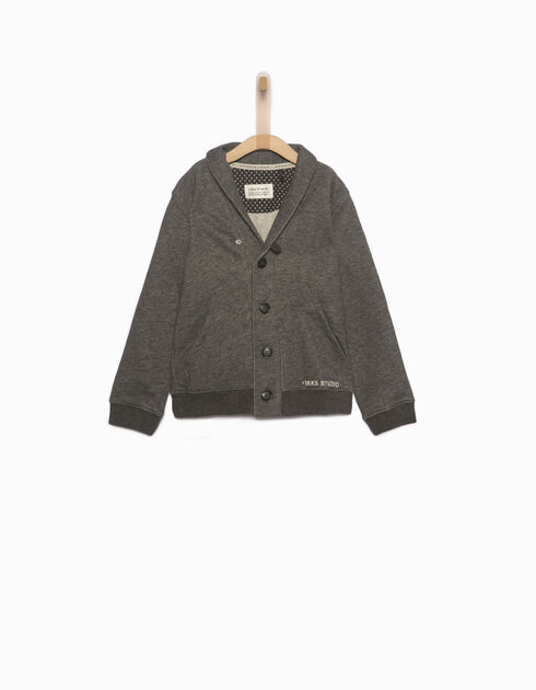 Boys' grey cardigan
