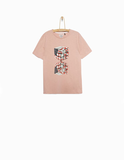 Tee-shirt garçon rose - IKKS Junior