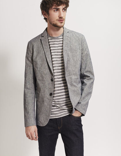 Men's indigo jacket - IKKS Men