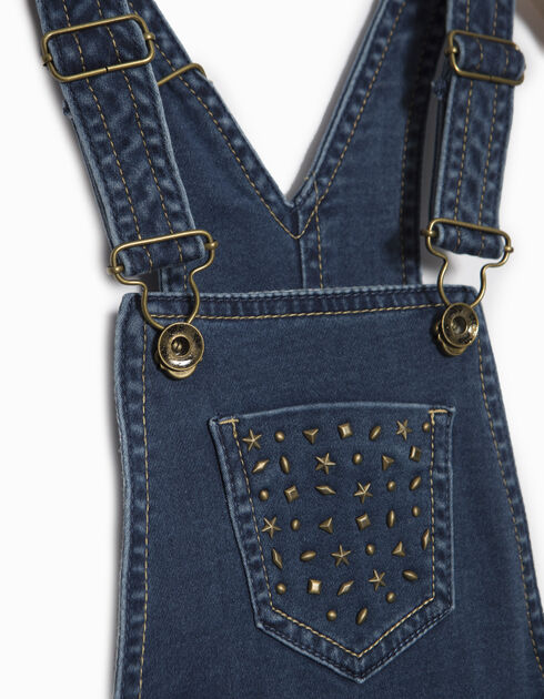 Girls' denim dungarees