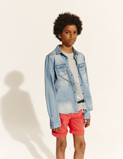 Boys' denim shirt  - IKKS Junior