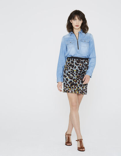 Women's shirt in denim - IKKS Women