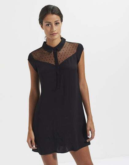 Black lace dress - I.Code by IKKS