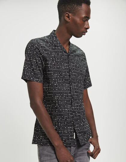 Men's black shirt - IKKS Men