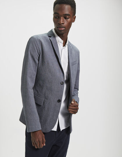 Men's seersucker jacket - IKKS Men