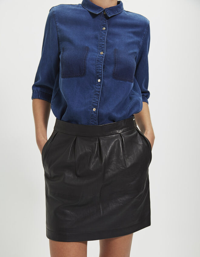 Women's leather skirt