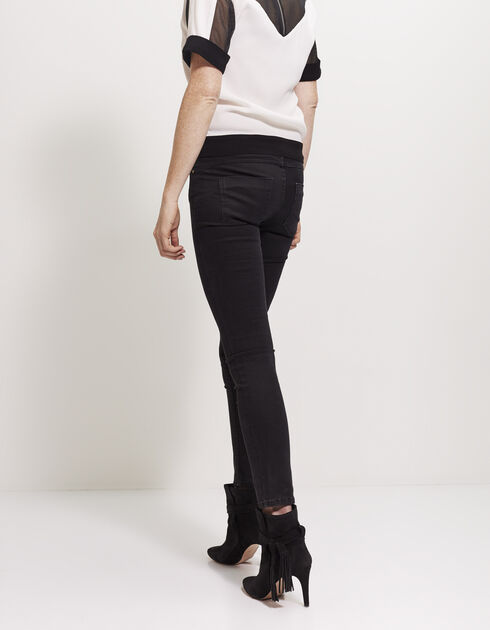 Slim fit jeans met studs