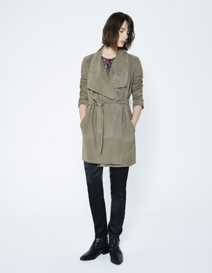 Goatskin trench coat - IKKS Women