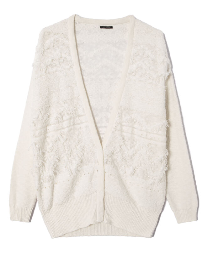 Women's ecru cardigan