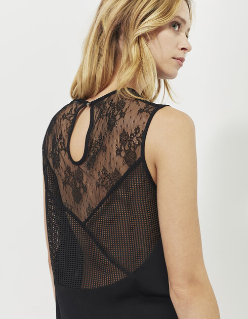 Women's lace mesh top