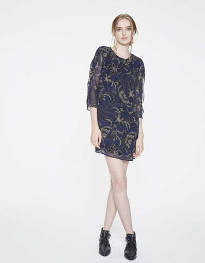 Baroque print voile dress - IKKS Women