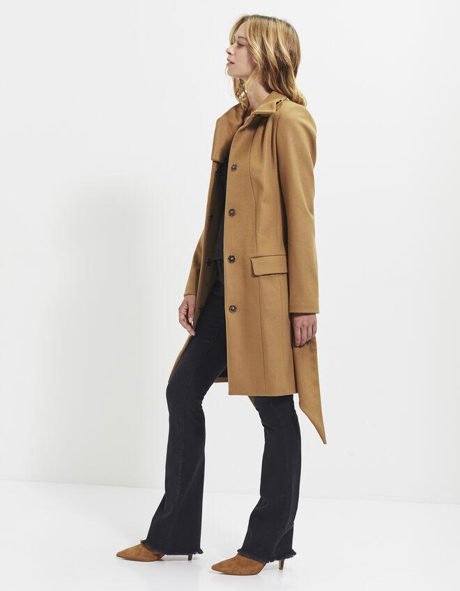 manteau long camel femme ikks mode archive h16 automne hiver. Black Bedroom Furniture Sets. Home Design Ideas