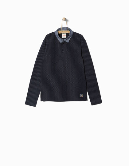 Boys' navy polo shirt  - IKKS Junior