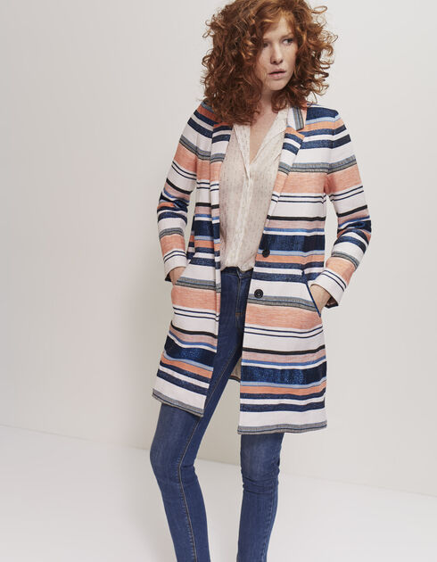 Women's striped coat