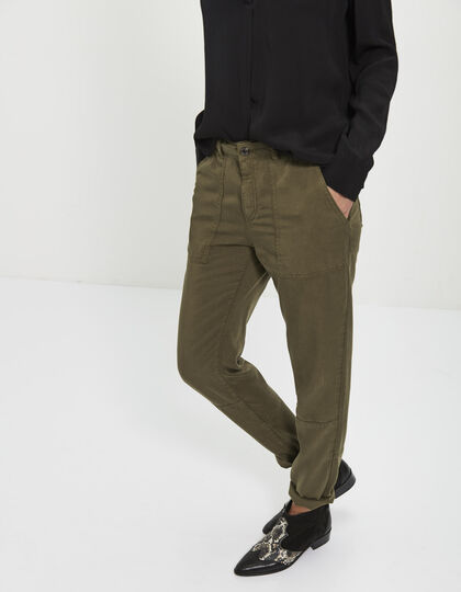 Women's Lyocell trousers - IKKS Women