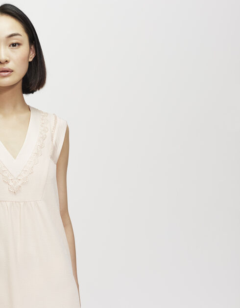 Crêpe and lace dress