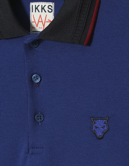 Boys' blue polo shirt - IKKS Junior