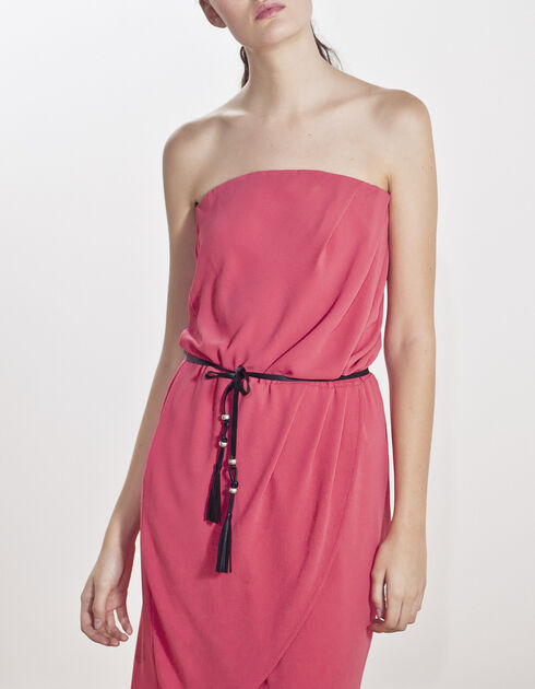 Pink strapless dress