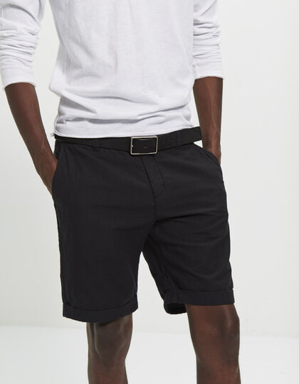 Men's black Bermudas - IKKS Men