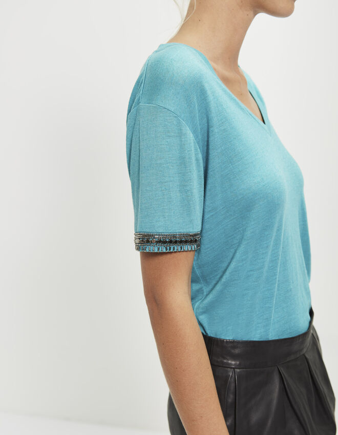 Women's bejewelled T-shirt