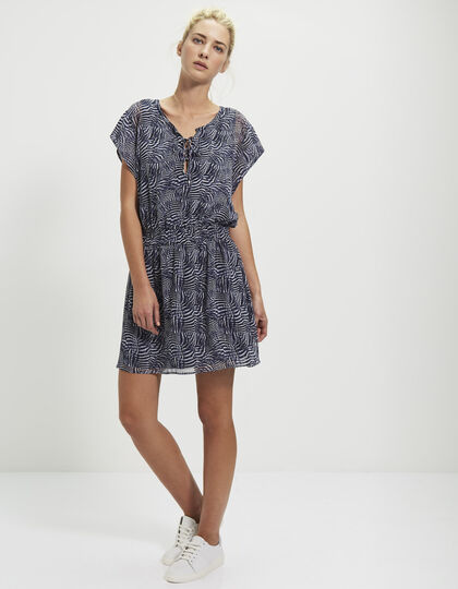 Women's plant-printed dress - IKKS Women