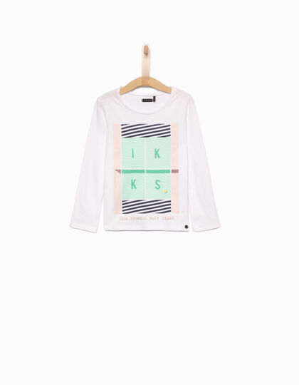 Girls' white T-shirt - IKKS Junior