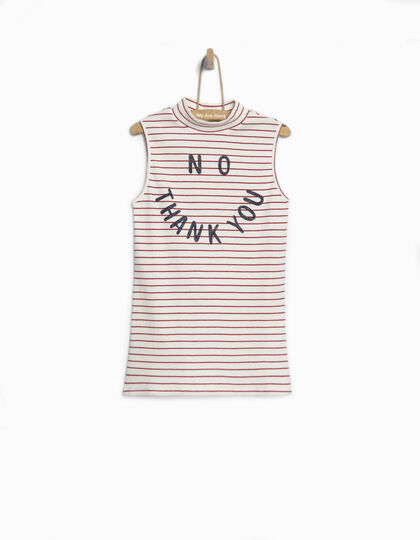 Girls' striped vest top - IKKS Junior