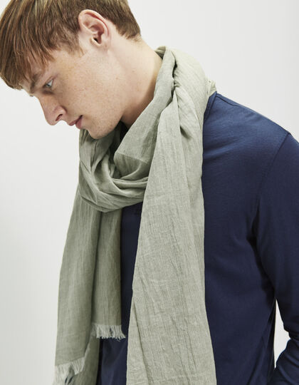 Men's green scarf - IKKS Men