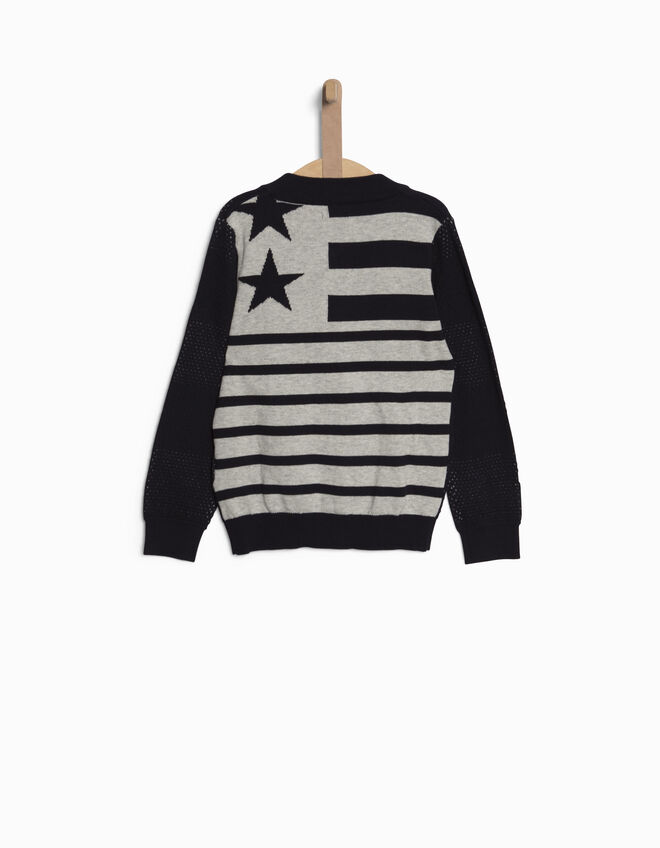 Boys' navy blue cardigan