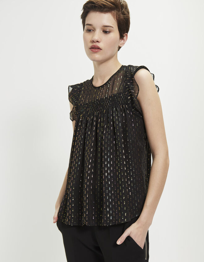 Women's dotted top