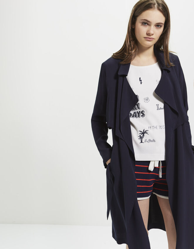 Women's long trench coat
