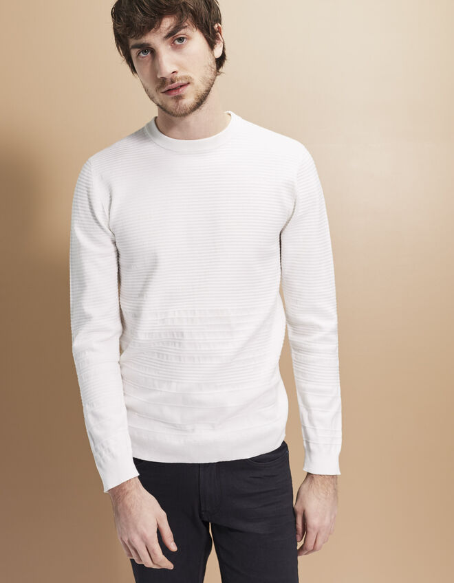 Witte herensweater