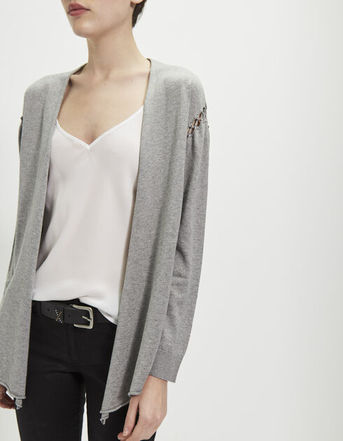 Women's grey cardigan