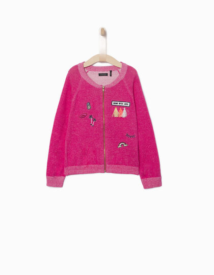 Girls' pink cardigan - IKKS Junior