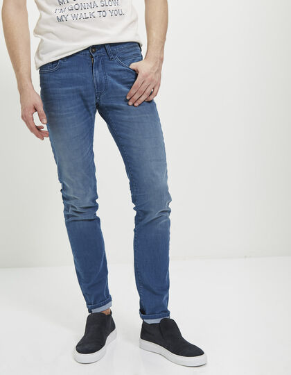 Men's slim blue jeans - IKKS Men