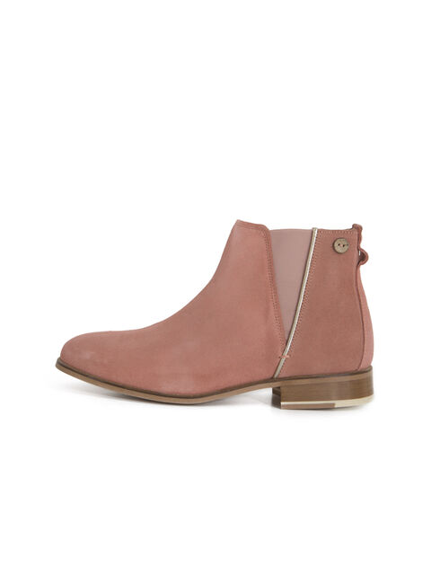 Boots cuir velours rose faguo i.code
